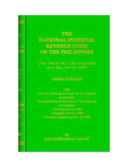 National Internal Revenue Code (Pocket Size)