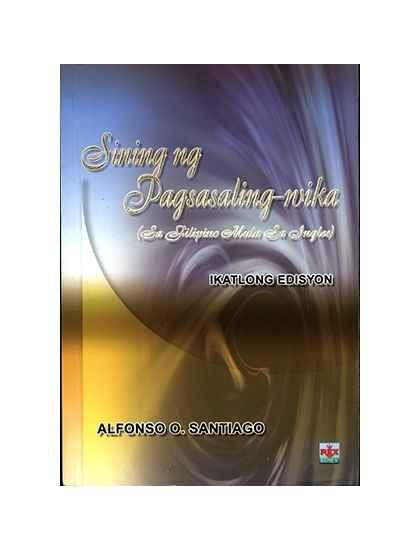 Sining ng Pagsasaling WIKA sa Filipino mula sa Ingles