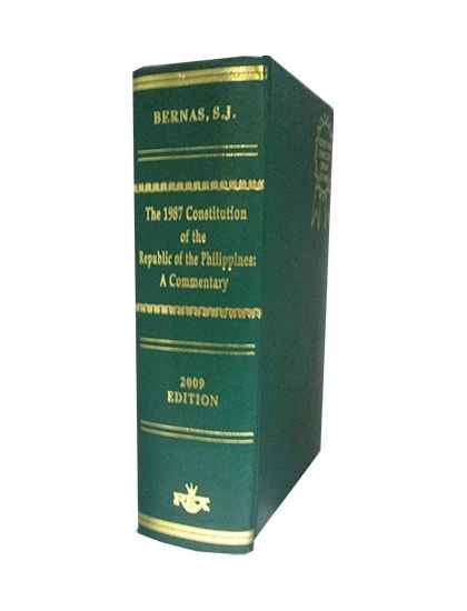 The 1987 Constitution of the Republic of the Philippines A Commentary