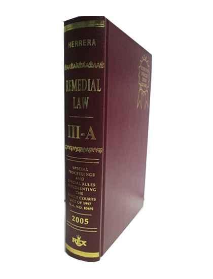 Remedial Law, Vol. III-A (Special Proceedings)