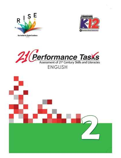 Performance Tasks English 2