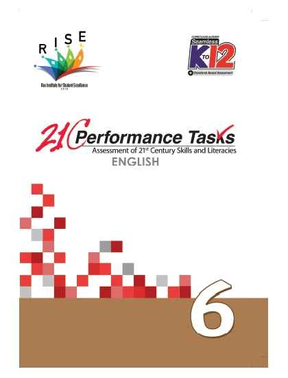 Performance Tasks English 6