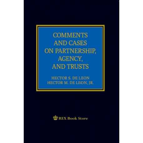 Comments and Cases on Partnership, Agency and Trusts