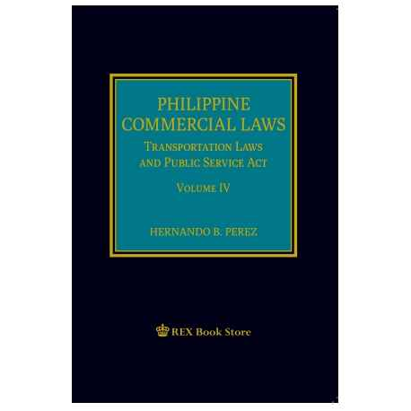Philippine Commercial Laws Vol. IV (2020 Edition) Cloth Bound