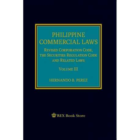 Phil Commercial Law Volume III (2020 Edition) Cloth Bound