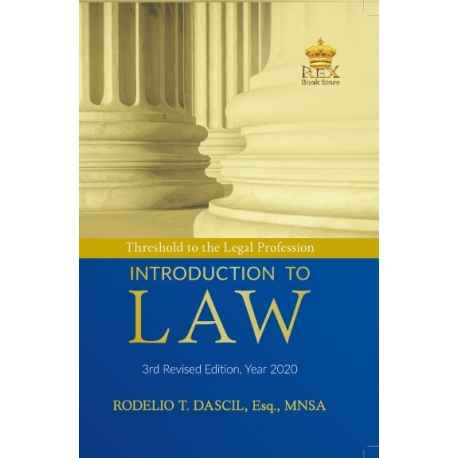 Threshold to the Legal Profession : Introduction to Law (2020 Edition) Paper Bound