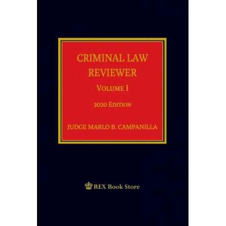 CRIMINAL LAW REVIEWER VOLUME I (CLOTH BOUND)