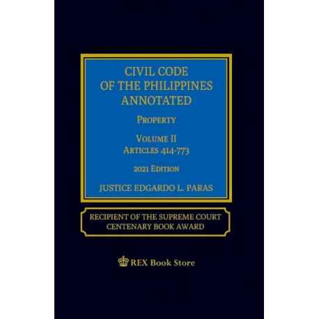 Civil Code Volume II Property (2021 Edition) Cloth Bound