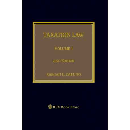 Taxation Volume I (2020 Edition) Cloth Bound