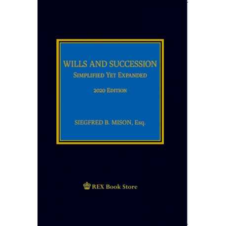 Wills and Succession (2020 Edition) Cloth Bound