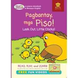 Hello Animals Pagbatay Piso! Look Out, Little Chicks ! | Children's Book | Rex Book Store Inc