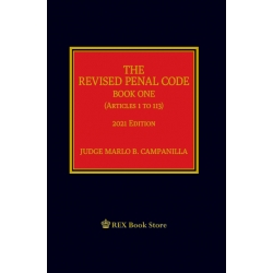 The Revised Penal Code Book One (2021 Edition) Cloth Bound