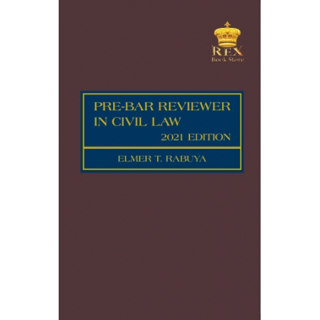 Pre-Bar Reviewer in Civil Law (2021 Edition) Cloth Bound