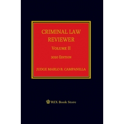 Criminal Law Reviewer Volume II (2020 Edition) Cloth Bound