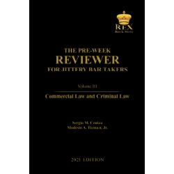 The Pre-Week Reviewer for Jittery Bar Takers Volume III (2021 Edition) Cloth Bound