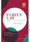 Family Law Volume I (2020 Edition) Cloth Bound