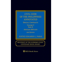 Civil Code of the Phils Annotated Special Contracts Volume V Part 2 (2021 Edition) Cloth Bound
