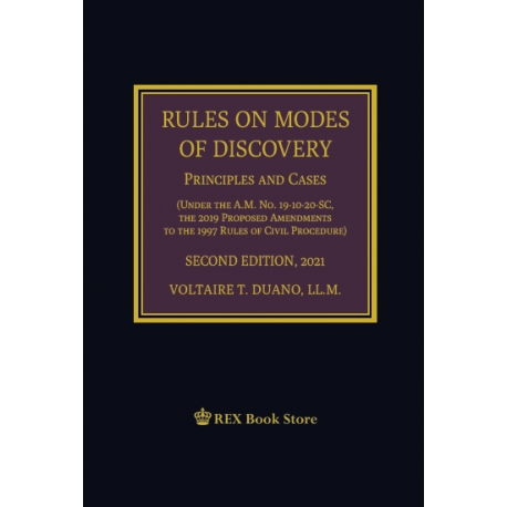 Rules on Modes of Discovery (2021 Edition) Cloth Bound