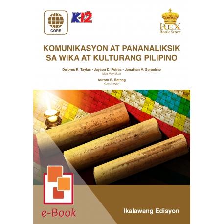 Komunikasyon at Pananaliksik sa Wika at Kulturang Pilipino [E-Book : E-Pub] 2019 Edition