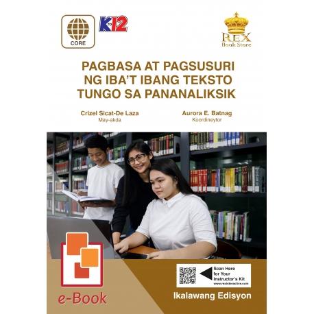 Pagbasa at Pagsusuri ng Iba't Ibang Teksto Tungo sa Pananaliksik [E-Book: E-Pub] Ikalawang Edisyon