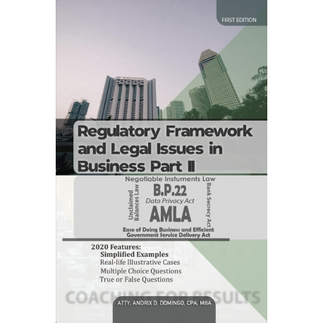 Regulatory Framework and Legal Issues in Business Part II (2020 Edition) Paper Bound