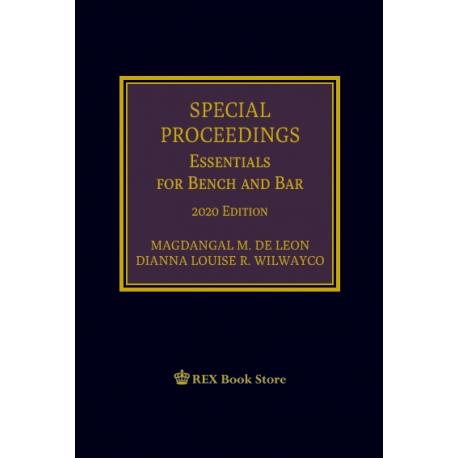 Special Proceedings (2020 Edition) Cloth Bound