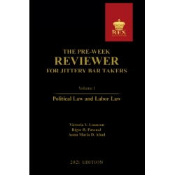 The Pre-Week Reviewer for Jittery Bar Takers Volume I (2021 Edition) Cloth Bound