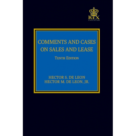 Comments and Cases on Sales and Lease (2021 Edition) Cloth Bound