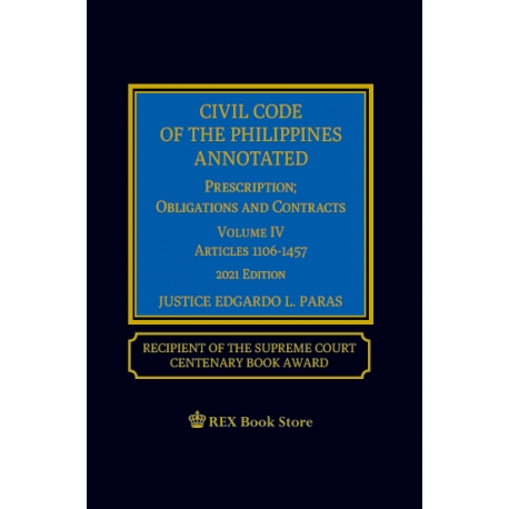 Civil Code of the Philippines Volume IV (2021 Edition) Cloth Bound