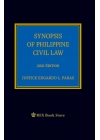 Synopsis of Philippine Civil Law (2021 Edition) Cloth Bound
