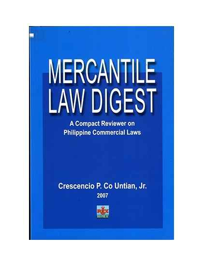 Mercantile Law Digest Law Book