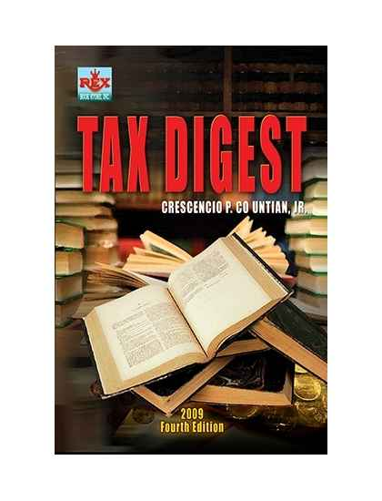 Tax Digest - law book