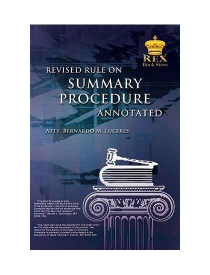 Revised Rule on Summary Procedure Annotated
