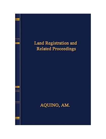 Land Registration and Related Proceedings
