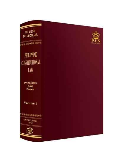 Philippine Constitutional Law Volume I