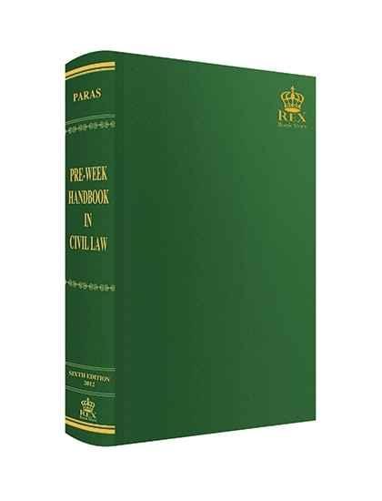Pre-week Handbook in Civil Law
