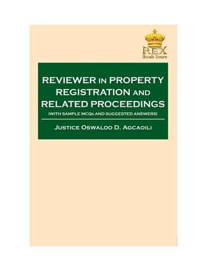 Reviewer on Property Registration Decree and Related Laws