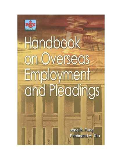 Handbook on Overseas Employment and Pleadings